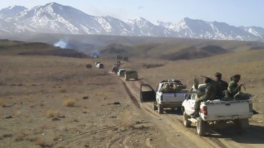 An Australian SASR team with US and Afghan forces on patrol in Shah-i-Kot.