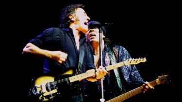 Bruce Springsteen performing at the SCG on March 22, 2003, as part of a world tour in support of <i>The Rising</i>.