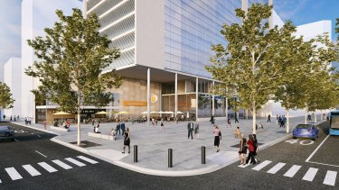 The proposed Victoria Cross station at North Sydney would be one of six new metro stops.