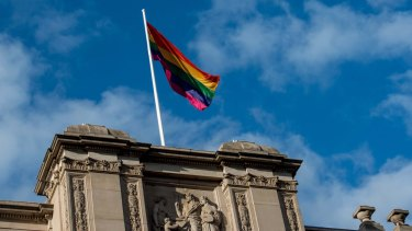 The rainbow flag is flying over many public buildings, though not in Mount Alexander.
