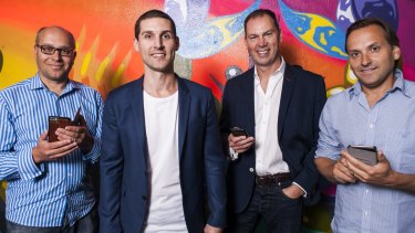 Existing Unlockd investors Gabby Leibovich, Matt Berriman Walsh and Hezi Leibovich, pictured with chief executive Matt Berriman (second from left).