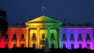 The White House illuminated in rainbow colours after the Supreme Court's ruling legalised gay marriage across the nation in June.