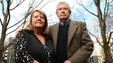 Kelly Thompson's parents Wendy and John Thompson.