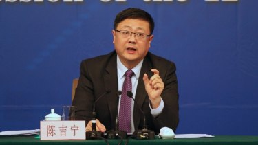 Chen Jining, China's minister of environment protection.