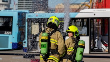 An emergency management exercise involving police, fire brigade and ambulance took place in Sydney's CBD.