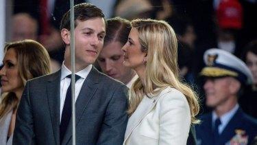 Jared Kushner at the inaugural parade with his wife Ivanka Trump.