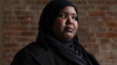 Juweiya Abdiaziz Ali, a Somali-born naturalised American, is challenging the travel ban in Seattle.