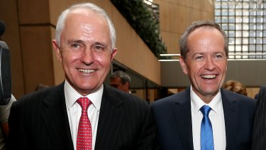 Prime Minister Malcolm Turnbull and Opposition Leader Bill Shorten on the campaign trail.