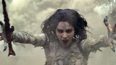 Sofia Boutella is a vengeful Egyptian princess in The Mummy.