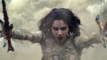 Sofia Boutella is a vengeful Egyptian princess in The Mummy.