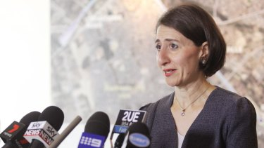 """The do-nothing scenario is simply not an option"": NSW Transport Minister Gladys Berejiklian."