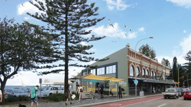 An artist's impression of a proposed B-Line stop at Collaroy.