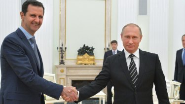 Syrian President Bashar al-Assad, left, with Russian President Vladimir Putin, in Moscow.