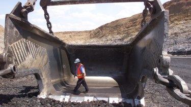 Dragline at the Bengalla coal mine in the Hunter Valley.