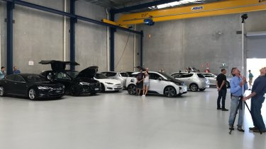 61 electric cars were used in the record attempt