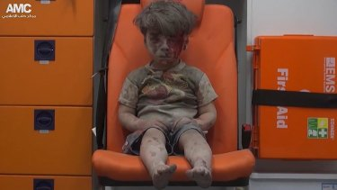 Omran Daqneesh, the child whose image has defined the misery of Aleppo for many. His 10-year-old brother died from wounds sustained in the same air strike.