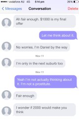 Daniel tries to convince the women with higher offers.