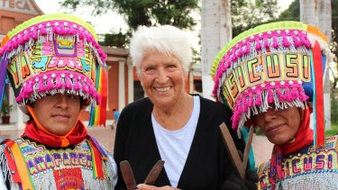 Dawn Fraser in Peru on an episode of  <i>Who Do You Think You Are?</i>