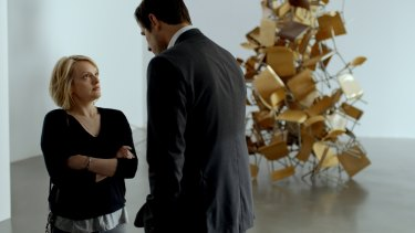 Elisabeth Moss and Claes Bang in <i>The Square</i>.