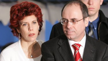 Israeli Interior Minister Silvan Shalom and his wife Judy Shalom Nir-Mozes.