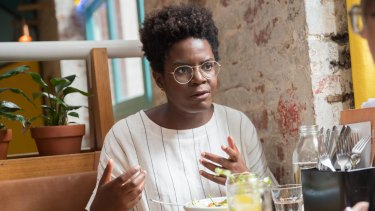Author Reni Eddo-Lodge says over lunch at Fonda that she sees her book's phenomenal success as part of a larger movement.