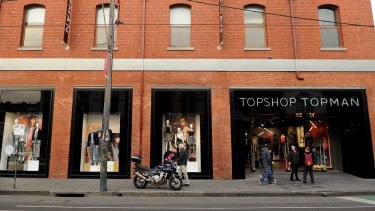The first Topshop store in Australia, on Melborne's Chapel Street, has suffered as the area has struggled to maintain its identity as a luxury shopping destination.
