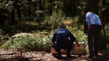 NSW police in the Royal National Park on Thursday.