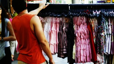 A society of fast fashion means many people are throwing out clothing with the tags still attached.