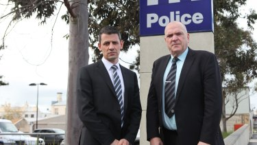 Police Association Victoria secretary Wayne Gatt (L) says officers are becoming increasingly concerned about rammings.