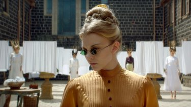 Natalie Dormer as Mrs Appleyard in Picnic at Hanging Rock.