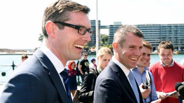 Finance Minister Dominic Perrottet and Premier Mike Baird remain under fire over the property acquisition process for WestConnex