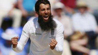 Danger man: Off-spinner Moeen Ali held the upper hand over Australia's batsman in the first Test.