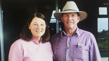 Jenny Waldron and her husband Anthony who was killed in a quad bike accident while spraying weeds on his cattle farm in 2013.