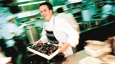Simpson moved from the United Kingdom to Australia in 1990 to take up the head chef position at Aqua Luna in Sydney.