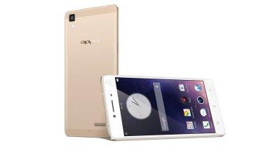 Oppo's R7 in gold.
