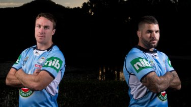 New Blues duo: James Maloney and Adam Reynolds in Coffs Harbour.