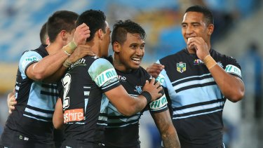 Great place to be: Ben Barba and the Sharks are riding high heading into the finals.