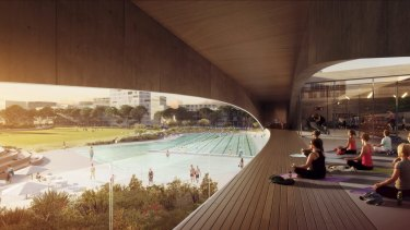 Construction will begin in February on the Gunyama Park Aquatic and Recreation Centre in Green Square.