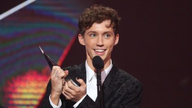 Troye Sivan accepts an ARIA for Best Video during the 30th Annual ARIA Awards last week.
