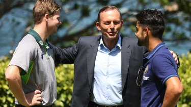Sage words: Prime Minister Tony Abbott tells of his own on-field tactics.
