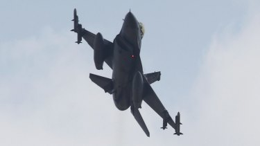 A Turkish F-16 fighter jet takes off from Incirlik airbase in July.