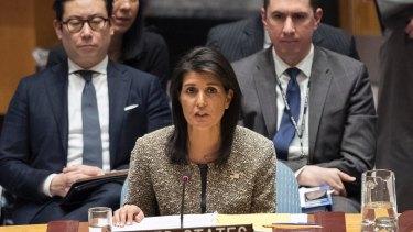 American Ambassador to the United Nations Nikki Haley