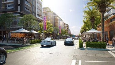The future of Carrington Road, Marrickville, according to NSW Planning.