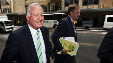 Brian Flannery arriving at an ICAC hearing in 2012.