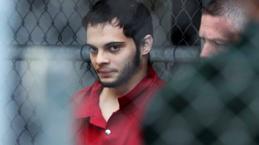Esteban Santiago is taken from the Broward County main jail as he is transported to the federal courthouse in Fort Lauderdale.