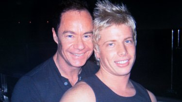 Michael Atkins and Matthew Leveson before Matthew's disappearance in 2007.