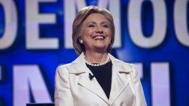 Hillary Clinton in Brooklyn, New York, last week.