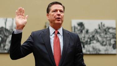 Controversial: FBI director James Comey.