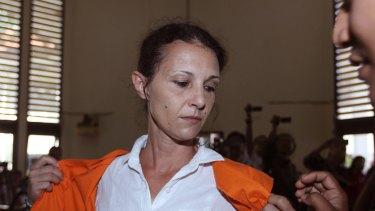 Sara Connor prepares for her verdict trial in Bali on Monday.