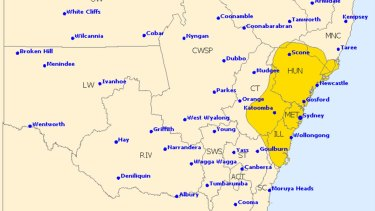 Areas of the NSW coast that can expect rough surf on Saturday.